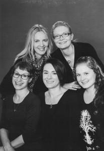 Susan, Ulla, Tiina, Krista ja Nita