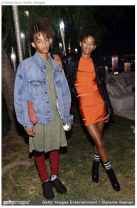 Figure 5. Jaden Smith and sister Willow in 2015