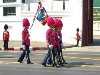 Figure 4. The King's Guard in pink uniforms